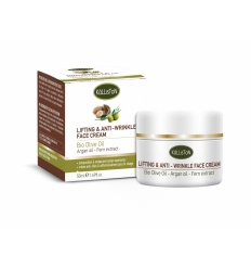 LIFTINGT & ANTI-WRINKLE FACE CREAM WITH BIO OLIVE OIL + ARGAN OIL 50ml