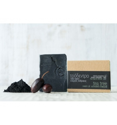 FACE SOAP FOR OILY OR ACNE PRONE SKIN TEA TREE - NEEM